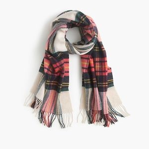 J Crew Wool Plaid Scarf